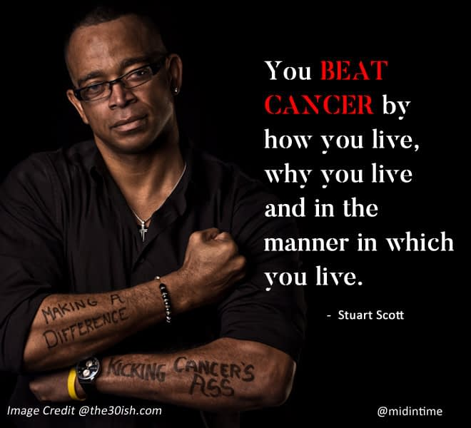 You beat cancer by how you live - Stuart Scott