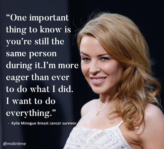 Kylie Minogue Breast cancer survivor